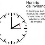 Cambio de hora 30 de octubre de 2011