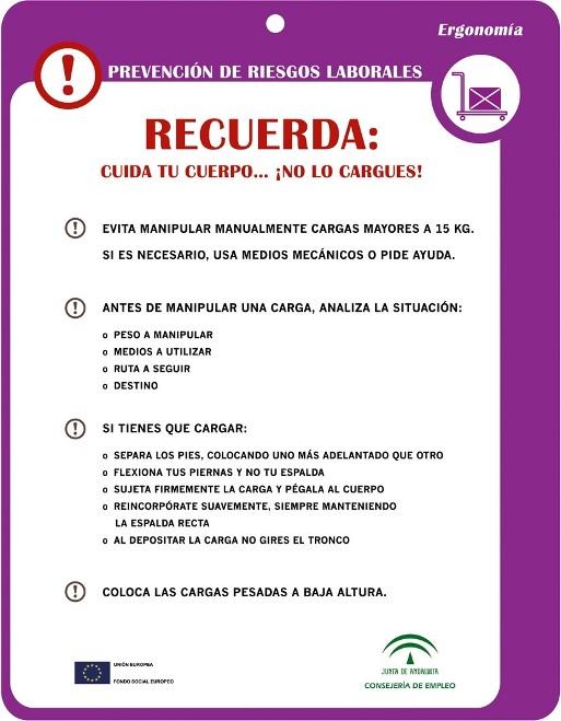 Cartel para imprimir con consejos de ergonom a for Ergonomia en el trabajo de oficina