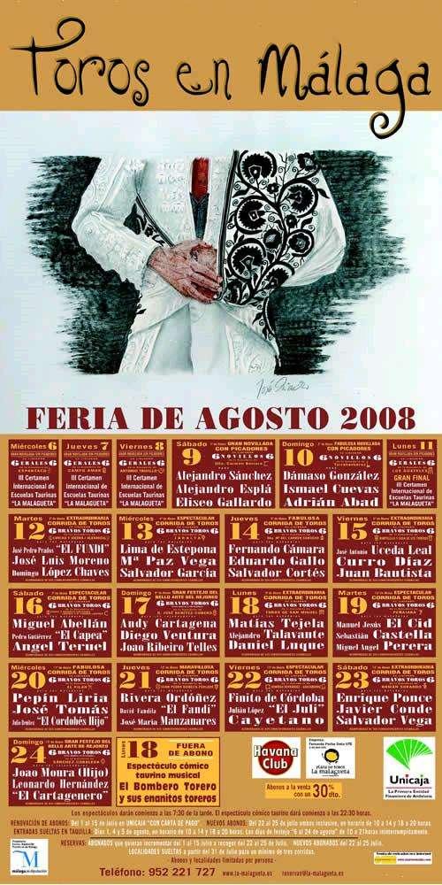 cartel toros feria malaga 2008