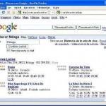 Cartelera de cine en Google