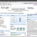 Pagina de Inicio de Google con pestañas