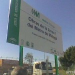 Obras del Metro de Málaga en la Linea 1