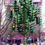 El árbol de los semaforos en Londres