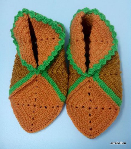Zapatillas de crochet modelo TP