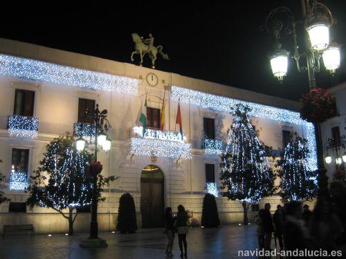 Ayuntamiento en la navidad de Granada