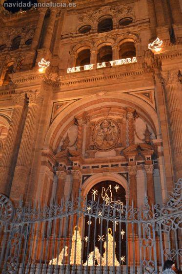 luces de navidad catedral de  malaga 2011