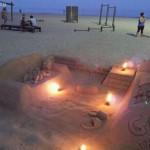 Los Simpson de arena en las playas de Málaga