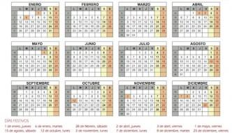 Calendario de fiestas laborales en Andalucía para 2015