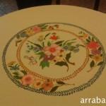 Mantel de mesa pintado a mano