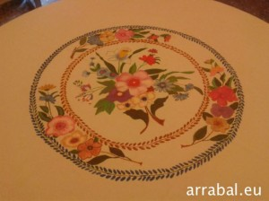 Tablecloth Round Handpainted