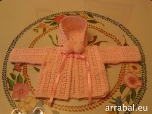 crochet baby cardigan with hat