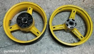 Ruedas de Suzuki GSX-R600 pulidas