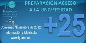 Cursos acceso mayores a la Universidad