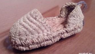 Mini Alpargata de esparto hecha a mano en Carratraca