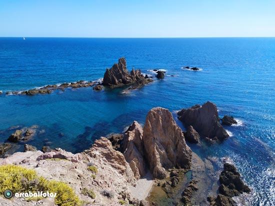 Arrecife de las Sirenas junto al Faro de Cabo de Gata - Nijar
