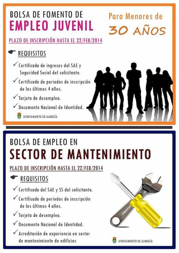 Bolsas de empleo en Almogía