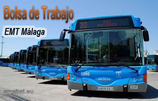 Bolsa de empleo de la EMT de Málaga