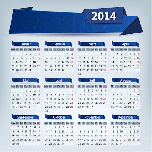 Calendario 2014 origami