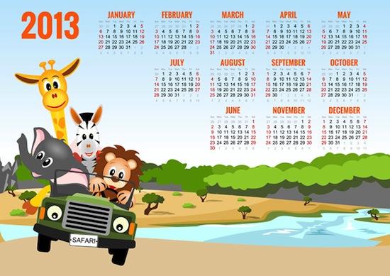 Calendario Jirafa 2013