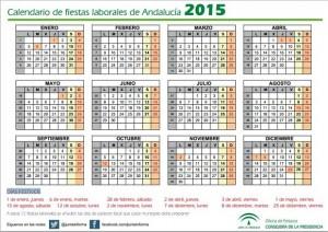 calendario de fiestas laborales en Andalucía para el año 2015