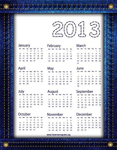 Calendario 2013 vaquero