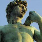 David de Miguel Angel en la Piazzale Michelangelo