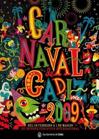 Cartel carnaval cadiz 2009