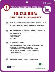Consejos de ergonomía, cartel para imprimir
