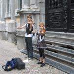 Niños músicos en Brujas