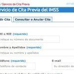 Cita previa del IMSS de Badajoz