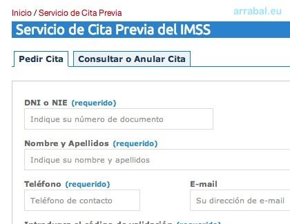 Cita Previa del IMSS Badajoz