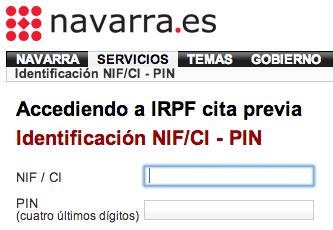 Cita previa para hacer la declaración de la renta 2013 en Navarra