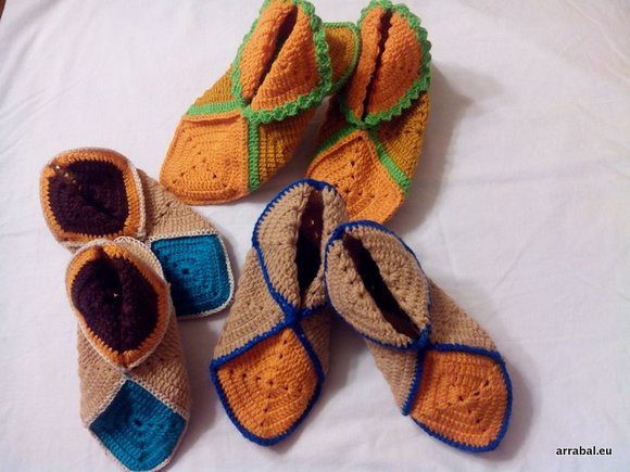 Handmade crochet slippers