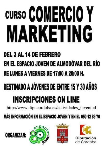 Curso de Comercio y marketing en Almodovar