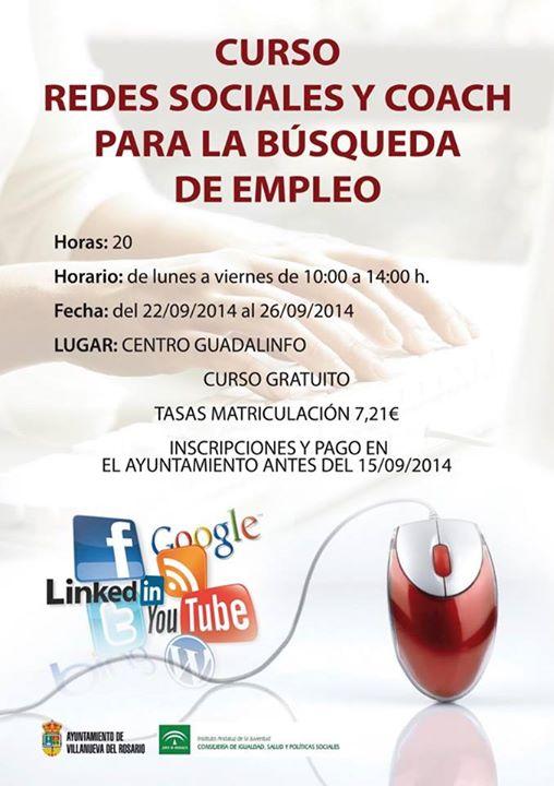 Curso Redes Sociales y Coach para la Bíºsqueda de Empleo en Villanueva del Rosario