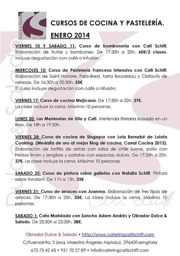 Cursos de cocina y pastelería en Fuengirola
