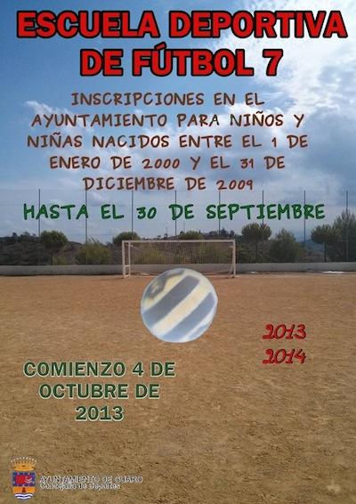 Escuela de Futbol 7 de Guaro