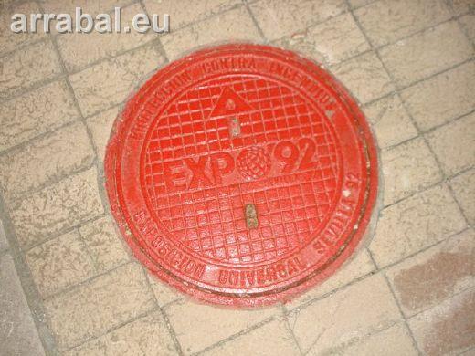Tapa de arqueta de la Expo 92