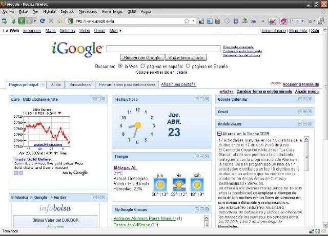 pagina de inicio goggle en español