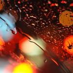 Lluvia tras el cristal