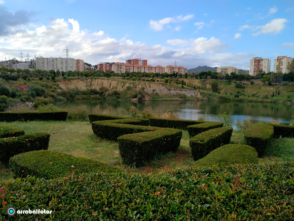 La laguna de la Barrera es una laguna artificial situada en la barriada Colonia de Santa Inés en Málaga. Fue creada por la depresión causada por la extracción de arcilla