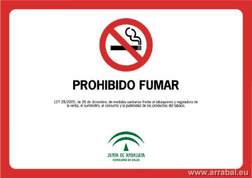 letreo no fumar