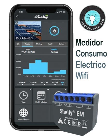 Contador de consumo eléctrico para el hogard