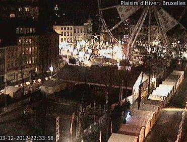 Webcam mercado de navidad de Bruselas