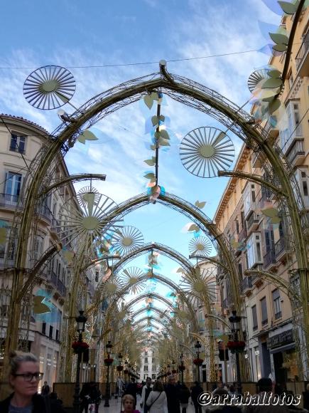 Alumbrado de Navidad 2019 en Calle Larios de Málaga