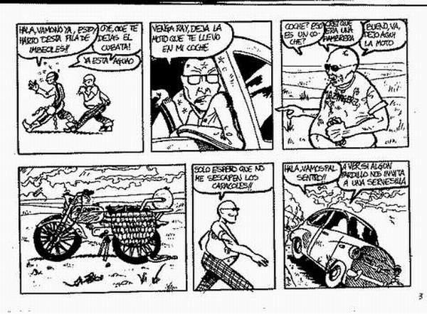 Pedro Sanchez y Raimundo Angosto locutores de SextaPlanta en el comic de Sextaplanta