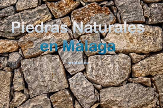 Piedras naturales y artificiales para la construcción en Malaga