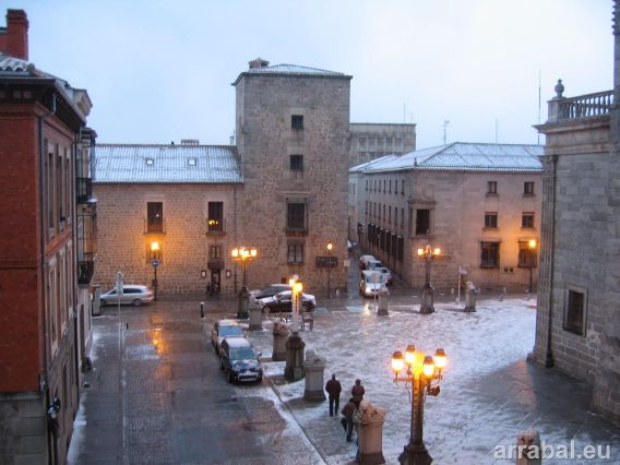 Plaza Catedral Avila nieve