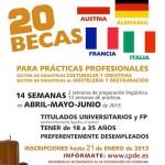 Becas para practicas profesionales en Europa