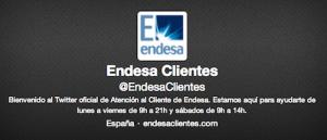 Twitter de Endesa para reclamar